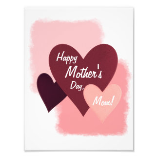 Happy Mother's Day Three Hearts Toned Photograph