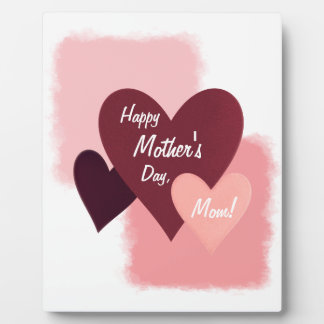 Happy Mother's Day Three Hearts Toned Plaque