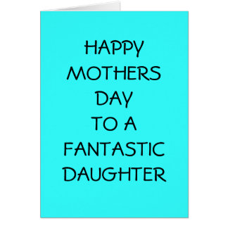 HAPPY MOTHERS DAY TO DAUGHTER CARDS