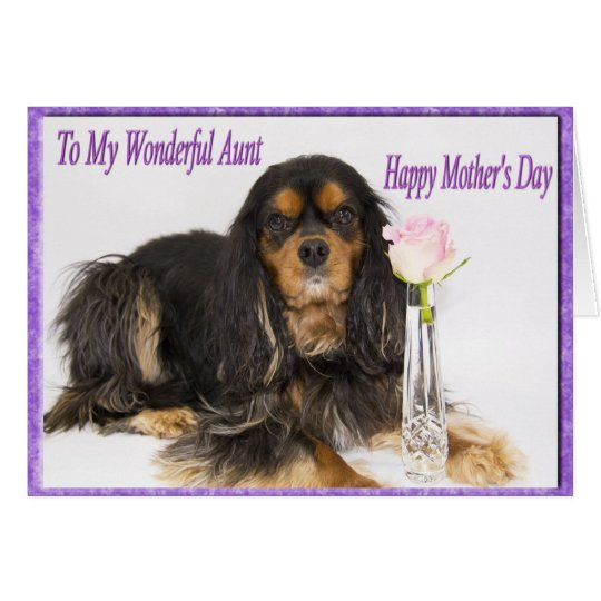Happy Mother's Day To My Aunt Dog Card
