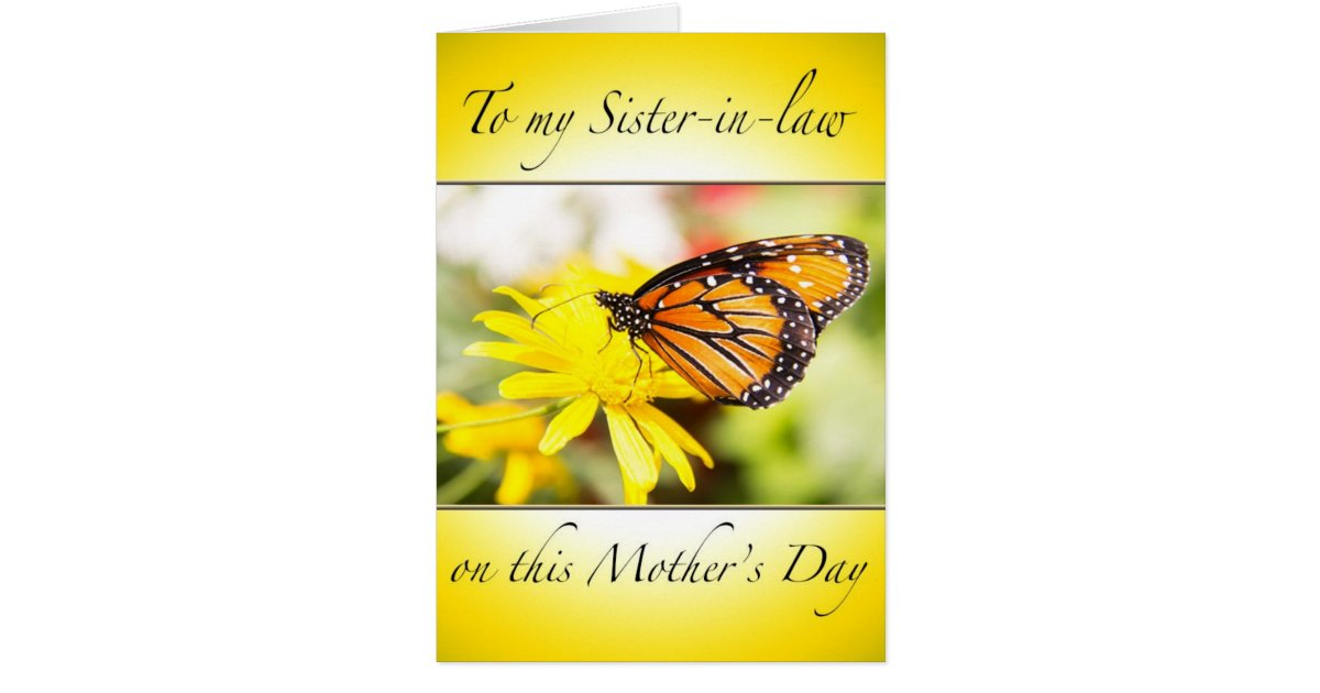 Happy Mother's Day To My Sister-In-Law Card | Zazzle.com