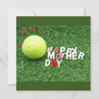 Happy Mother's day to Tennis player Card