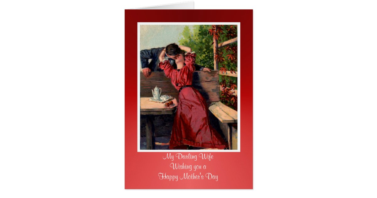 Happy Mother 39 S Day To Wife From Husband Vintage Card Zazzle