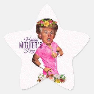 happy mothers day trump star sticker
