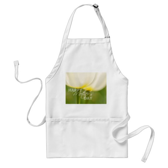 Happy Mother's Day Tulips Adult Apron