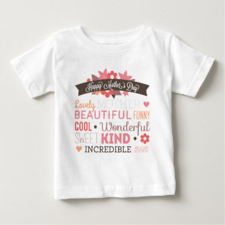 Happy Mother's day typography design Baby T-Shirt