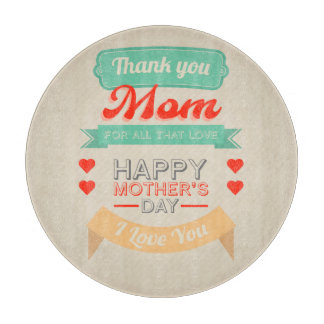 Happy Mother's day typography design Cutting Board