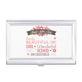 Happy Mother's day typography design Business Card Holder