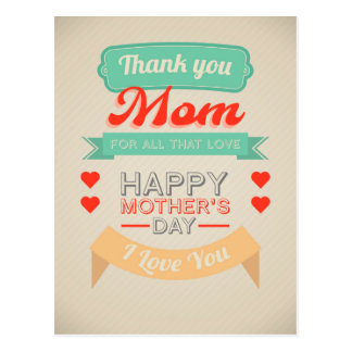 Happy Mother's day typography design Postcard