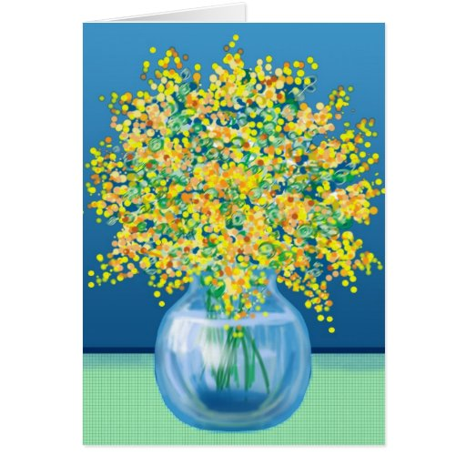 Happy Mothers Day vase of flowers Cards