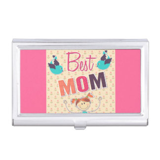 Happy Mother's Day vector doodle Business Card Cases