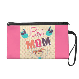 Happy Mother's Day vector doodle Wristlet Purse