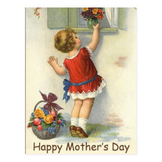 Happy Mothers Day - Vintage Postcard