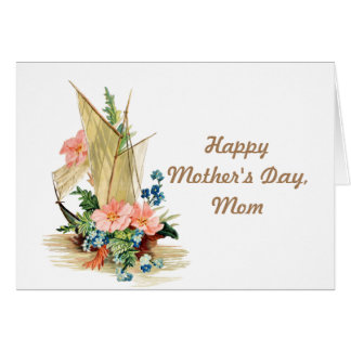 Happy Mother's Day Vintage Sailboat Card
