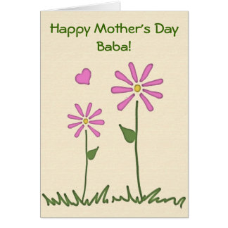 Happy Mother's Day w/ Baby & Baba Flowers card