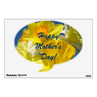 Happy Mother's Day! wall Decals Spring Daffodils