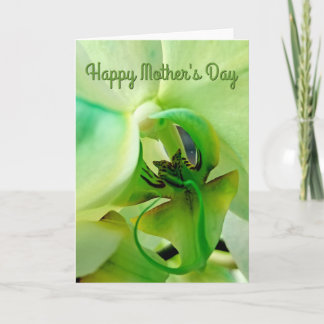 Happy Mother's Day Watercolor Orchid Card