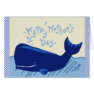 happy mother's day whale card