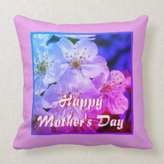 Happy Mother's Day, White Blossoms 02.2.3.F.T Throw Pillow