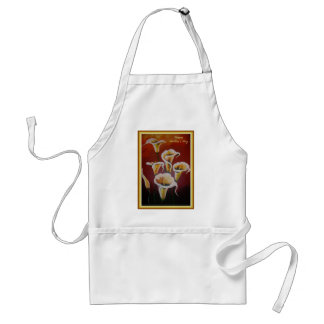 Happy Mother's Day - White Calla Lilies Adult Apron