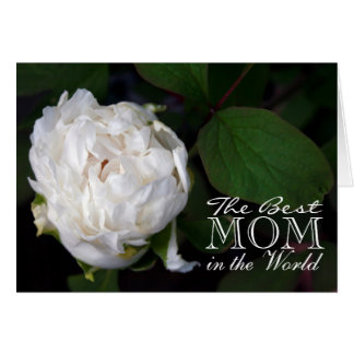 Happy Mother's day White Peony Greeting Card