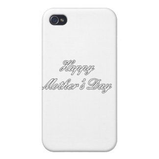 Happy Mother's Day White The MUSEUM Zazzle Gifts c Cases For iPhone 4