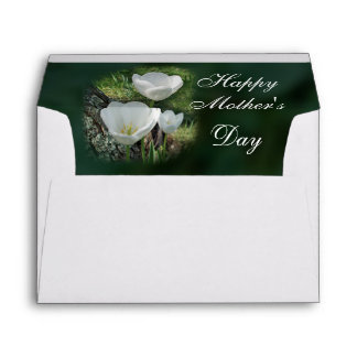 Happy Mother's Day White Tulips Envelope