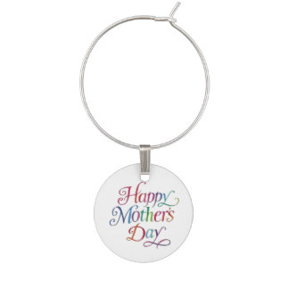 Happy Mothers Day Wine Glass Charm