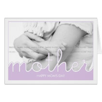 Happy Mother's Day Wishes Photo Moms Day Lavender Card