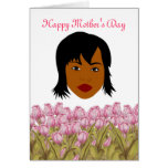 Happy Mother's Day with African American Mom Greeting Cards