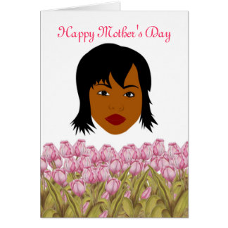 Happy Mother's Day with African American Mom Card