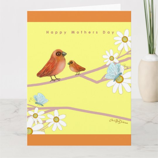 Happy Mother's Day with Birds Card