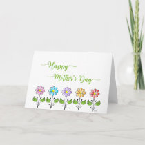 Happy Mother's Day ❤️ with Flowers Green Card