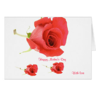 Happy mother's day with love greeting cards