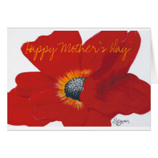Happy Mother's Day with Poppy Card