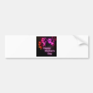 Happy Mother's Day with Red flowers Bumper Sticker