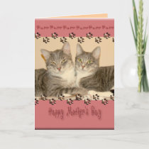 Happy Mother's Day with Two Cats Card