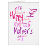 Happy Mother's Day Word Cloud Card