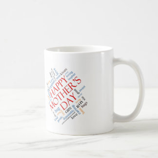 Happy Mother's Day word cloud Mom. Classic White Coffee Mug
