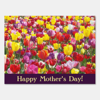 Happy Mother's Day! Yard signs Tulip Flowers Moms