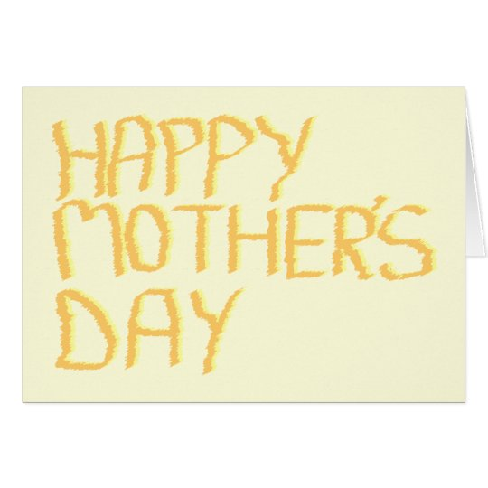 Happy Mothers Day. Yellow. Card
