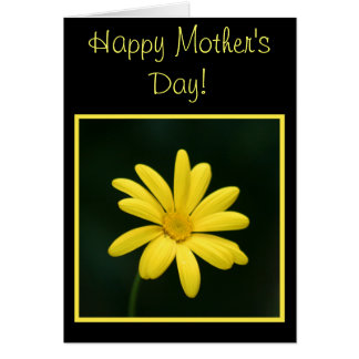 Happy Mother's Day Yellow Daisy Greeting card
