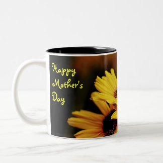 Happy Mother's Day Yellow Floral Mug