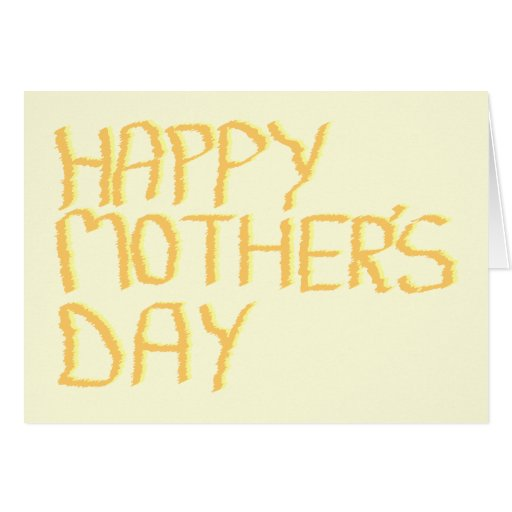 Happy Mothers Day. Yellow. Greeting Card