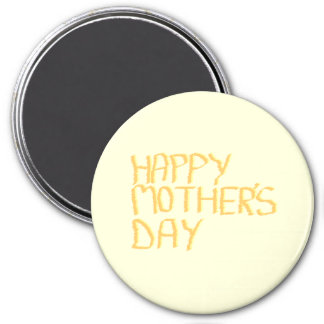 Happy Mothers Day. Yellow. Magnet