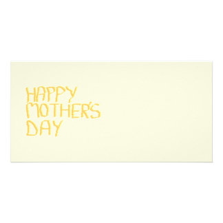 Happy Mothers Day. Yellow. Photo Card Template