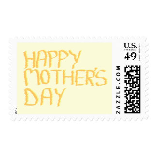 Happy Mothers Day. Yellow. Postage
