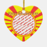 Happy Mother's Day - Yellow Retro Photo Frame Christmas Ornament