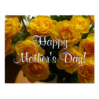 Happy Mother's Day Yellow Roses I Postcard