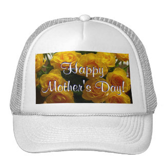 Happy Mother's Day Yellow Roses Trucker Hat
